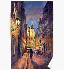 Prague Husova street Poster