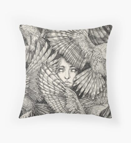 Daughter of Owls Throw Pillow