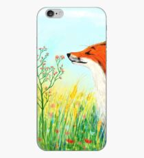 Foxes also smell flowers iPhone Case