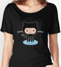 ★ Github octocat Black Women's Relaxed Fit T-Shirt