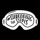 Shredding the Slopes ~ White on Black by ApricotBlossom