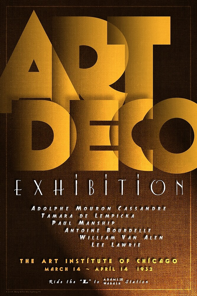 Art Deco Exhibition Poster by BLTV