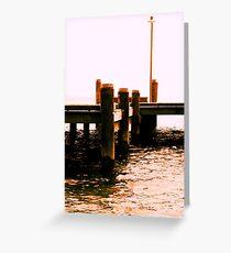 Dreaming of a Coastal Town 05 Greeting Card