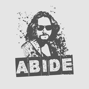 The Dude Abides - Original Artwork Inspired by The Big Lebowski by dmanzer2