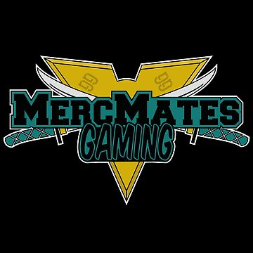 Merc Mates Gaming E-Sports Style Logo T-Shirt Design by AHobbyAJob