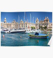 Malta: Traditional Boat Poster