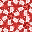 Red Kalos One  Geometric Abstract by Jenny Meehan by Jenny Meehan