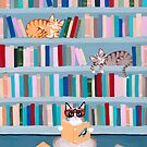 Cats in the Library by Ryan Conners
