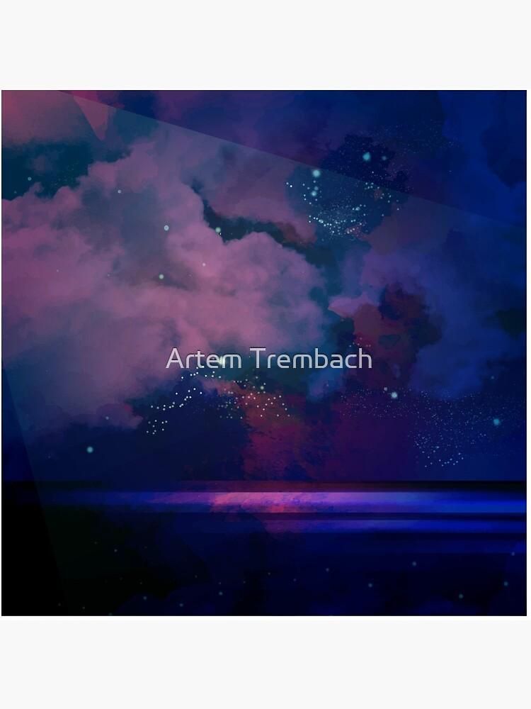 Night sea [watercolor] by Artem-Witness