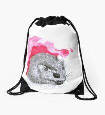 Red Hamster Drawstring Bag