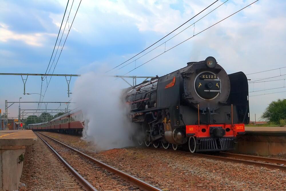 Magaliesberg Steam Train by JandeBeer