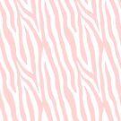 Pale pink zebra fur pattern 04 by InnaPoka