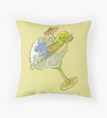 Spilled Drink Throw Pillow