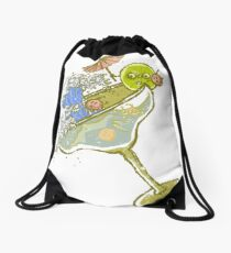 Spilled Drink Drawstring Bag