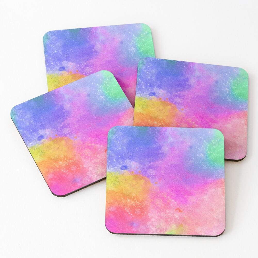 Crazy Colors #1 Coasters (Set of 4)