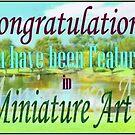 Miniature Art Group Feature Banner by Karen  Hull