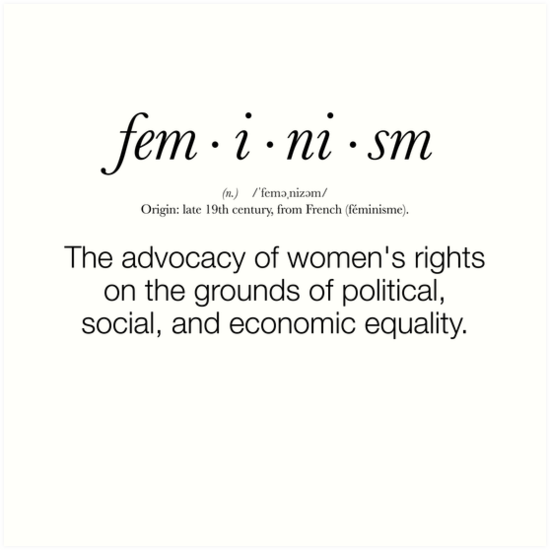 """""""Feminism Defined"""" Art Prints by valyrianheart 