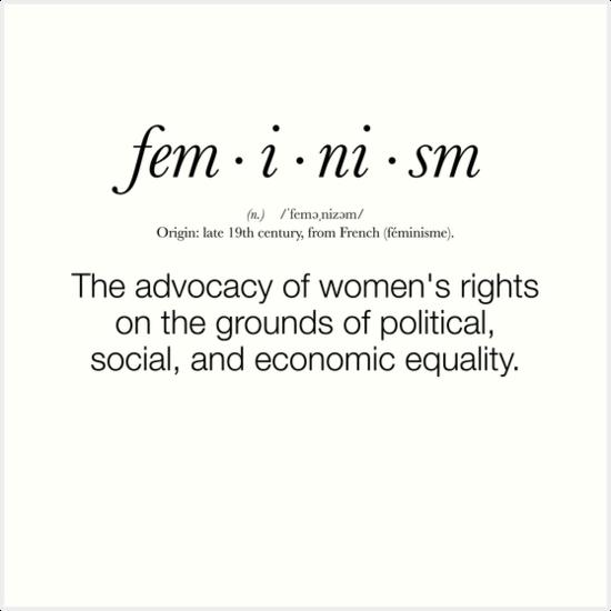 Feministisch Definition