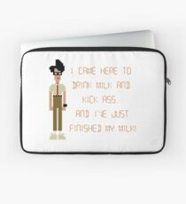 The IT Crowd – I Came Here to Drink Milk and Kick Ass Laptop Sleeve