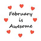 February is Awesome Random Hearts Light-Color by TinyStarAmerica
