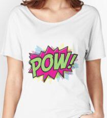Pow! Cartoon Women's Relaxed Fit T-Shirt
