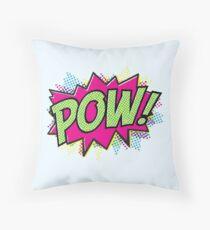 Pow! Cartoon Throw Pillow
