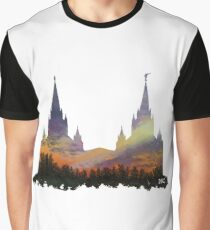 b4114a7f681b San Diego Temple Morning Sky Silhouette Graphic T-Shirt