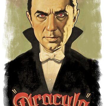 Bela Lugosi as Dracula by Geekimpact