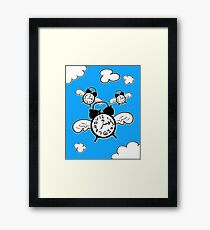 When Time Flies (Colored Version) Framed Print