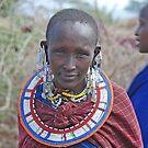 Maasai Girl, Tanzania by Adrian Paul