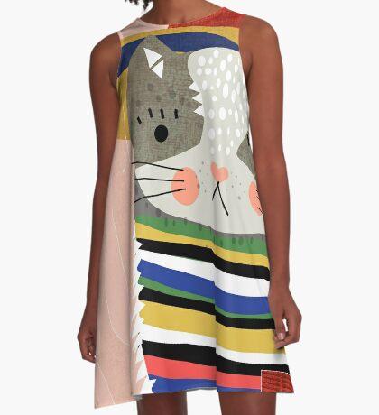 Travel Cat A-Line Dress