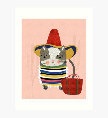 Travel Cat Art Print