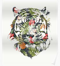 Tropical Tiger Poster