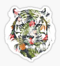 Tropical Tiger Sticker