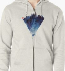 near to the edge Zipped Hoodie