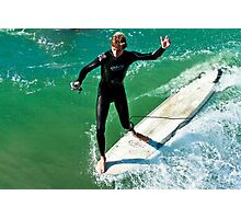 Surfer with Go Pro Photographic Print