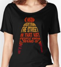 A man walks down the street... Women's Relaxed Fit T-Shirt