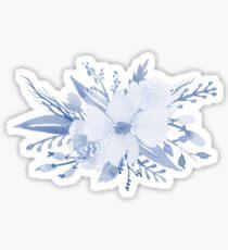 Blaue Blumenstrauß Sticker