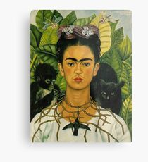 Frida Kahlo - Self Portrait with Thorn Necklace and Hummingbird, 1940 Metal Print