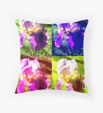 Colorized Iris Throw Pillow