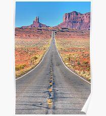 Famous Desert Highway Poster
