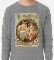 Heidsieck & Co Monopole Reims Champagner Vintage Kunst Leichter Pullover