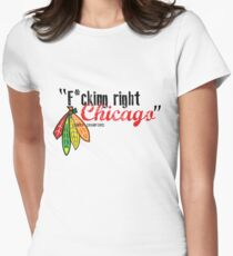 Corey Crawford strikes again Women's Fitted T-Shirt