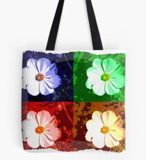 Colorized Flower Tote Bag