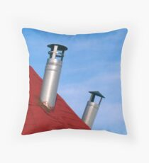 chimney and atmosphere Throw Pillow