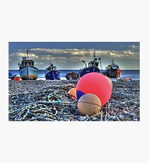 Boats on the beach Photographic Print