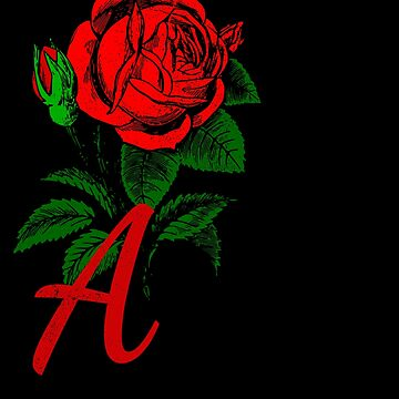 Pretty Rose Monogrammed Gifts Initial A by Shasta9876
