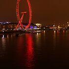 London Eye at night by Allen Lucas