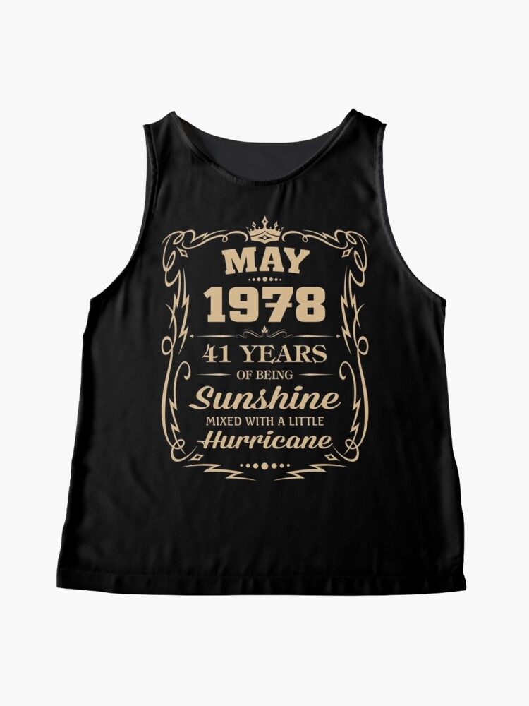 Alternate view of May 1978 Sunshine Mixed With A Little Hurricane Sleeveless Top
