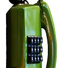 Green Vintage Phone by Deana Greenfield